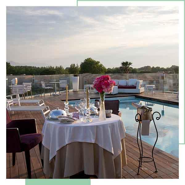Soirée romantique sur le toit terrasse de L'Almandin