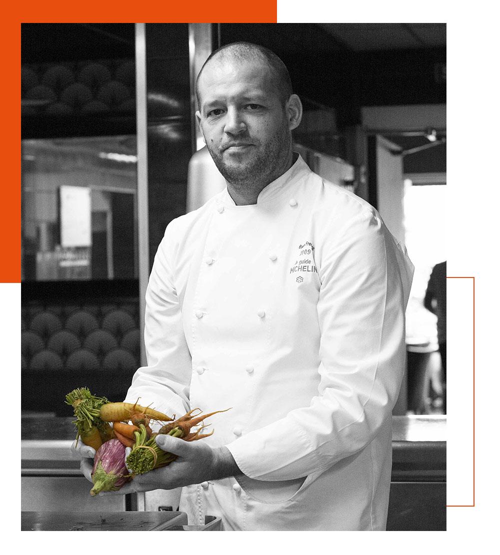 Le chef étoilé du restaurant L'Almandin : Frédéric Bacquié