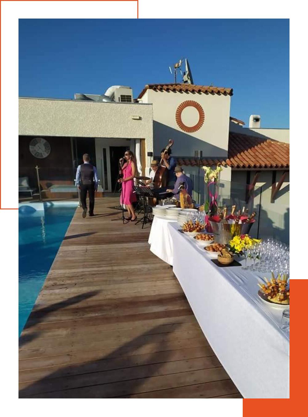 Le toit terrasse pour vos réceptions à L'Almandin
