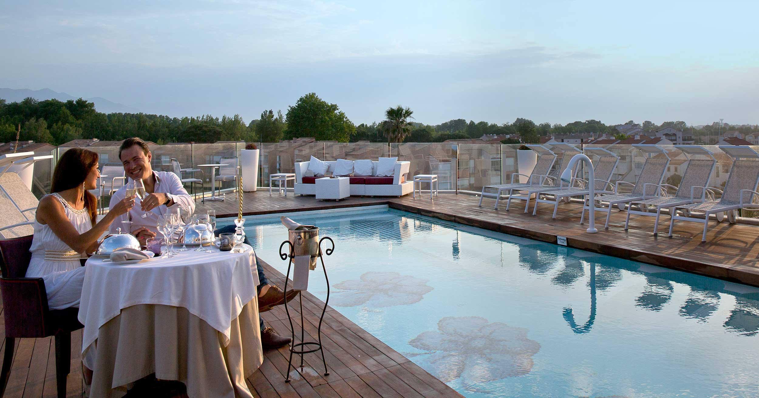 Une soirée sur le toit terrasse du restaurant étoilé L'Almandin